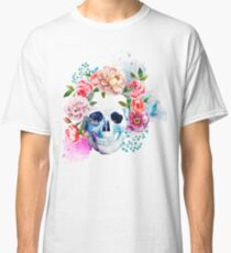 Colour flower skull | Globetrotter Classic T-Shirt