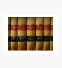 Row of Antique Law Books Circa 1800 Art Print