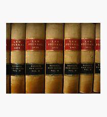 Row of Antique Law Books Circa 1800 Photographic Print