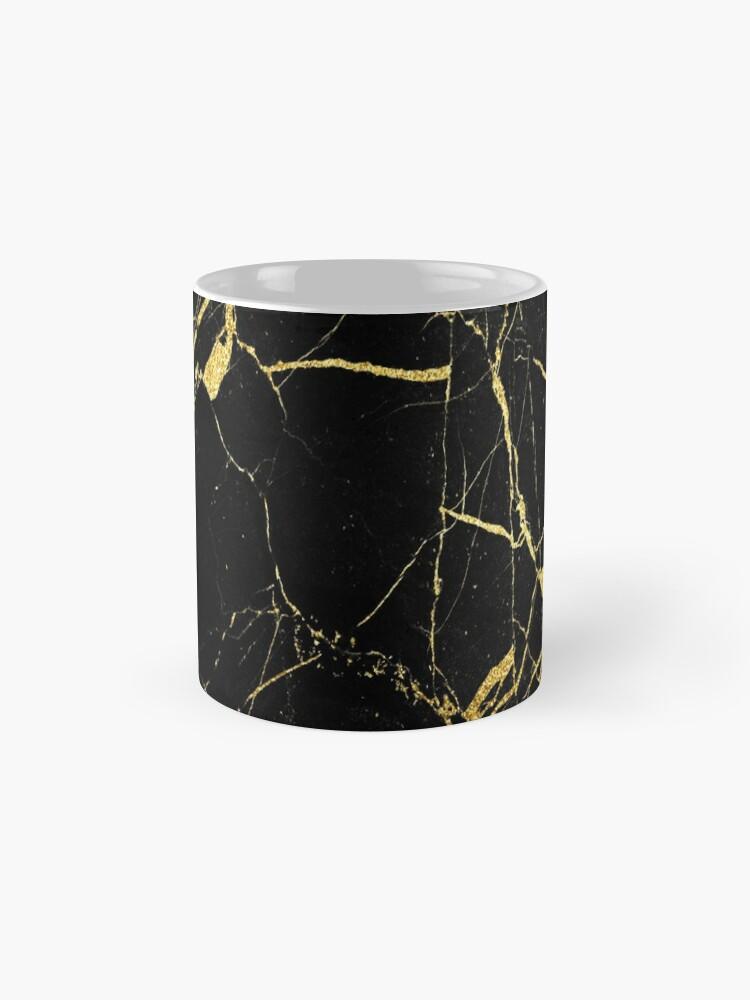 Alternate view of  Black-Gold Marble Impress Mug