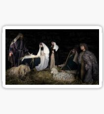 birth of Christ scene from the bible Sticker