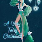Merry Christmas! Floral Winter Fairy Design by mlmillustration