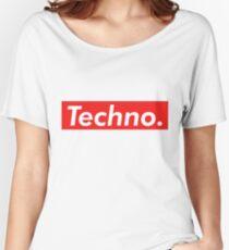 Techno Supreme Parody - Funny Supreme Parody Sticker T-Shirt Pillow Women's Relaxed Fit T-Shirt