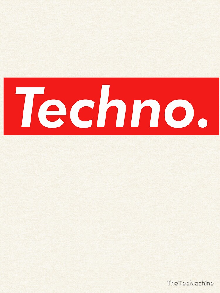 Techno Supreme Parody - Funny Supreme Parody Sticker T-Shirt Pillow de TheTeeMachine
