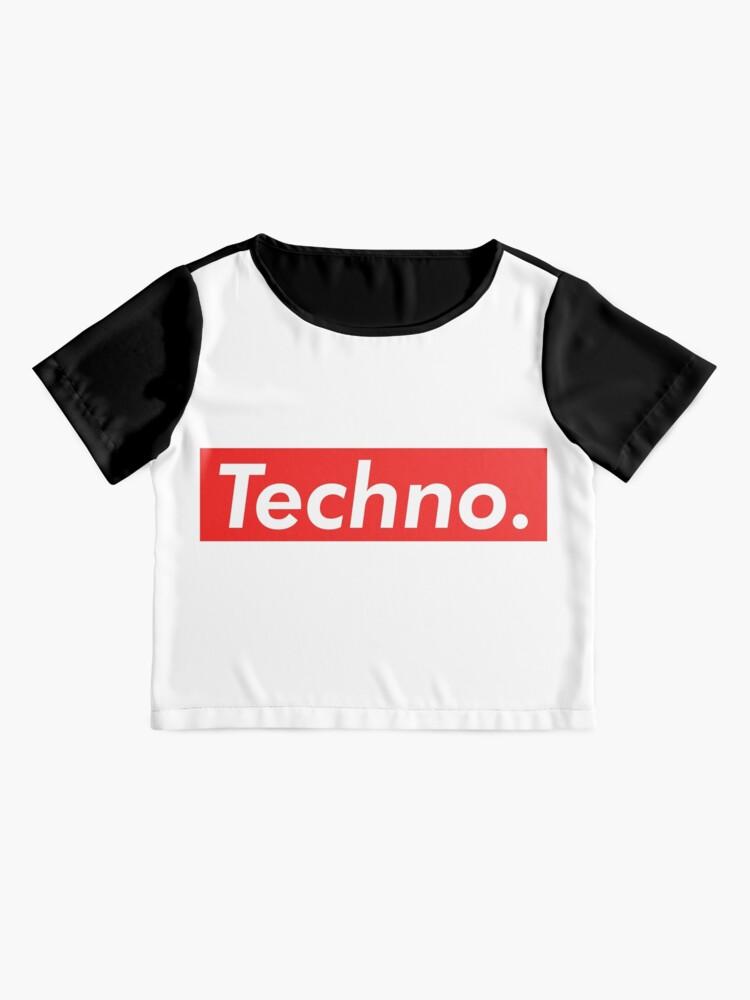 Vista alternativa de Blusa Techno Supreme Parody - Funny Supreme Parody Sticker T-Shirt Pillow
