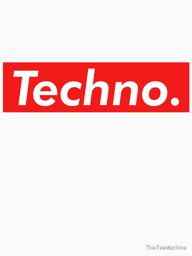 Techno Supreme Parody - Funny Supreme Parody Sticker T-Shirt Pillow de TheTeeMachine