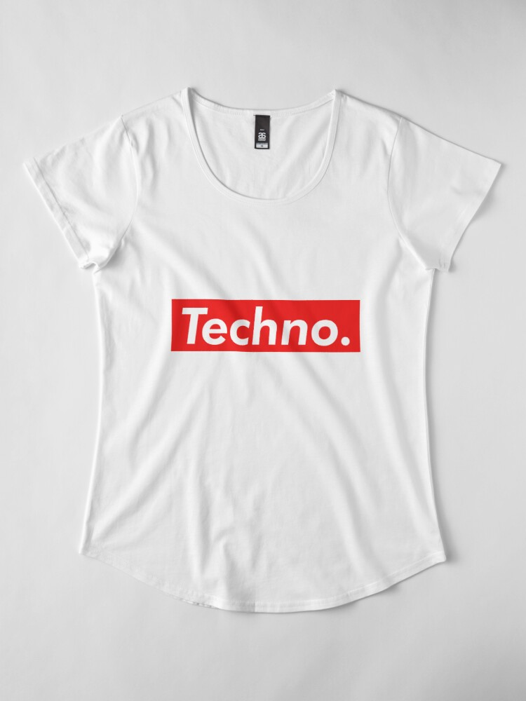 Vista alternativa de Camiseta premium de cuello ancho Techno Supreme Parody - Funny Supreme Parody Sticker T-Shirt Pillow
