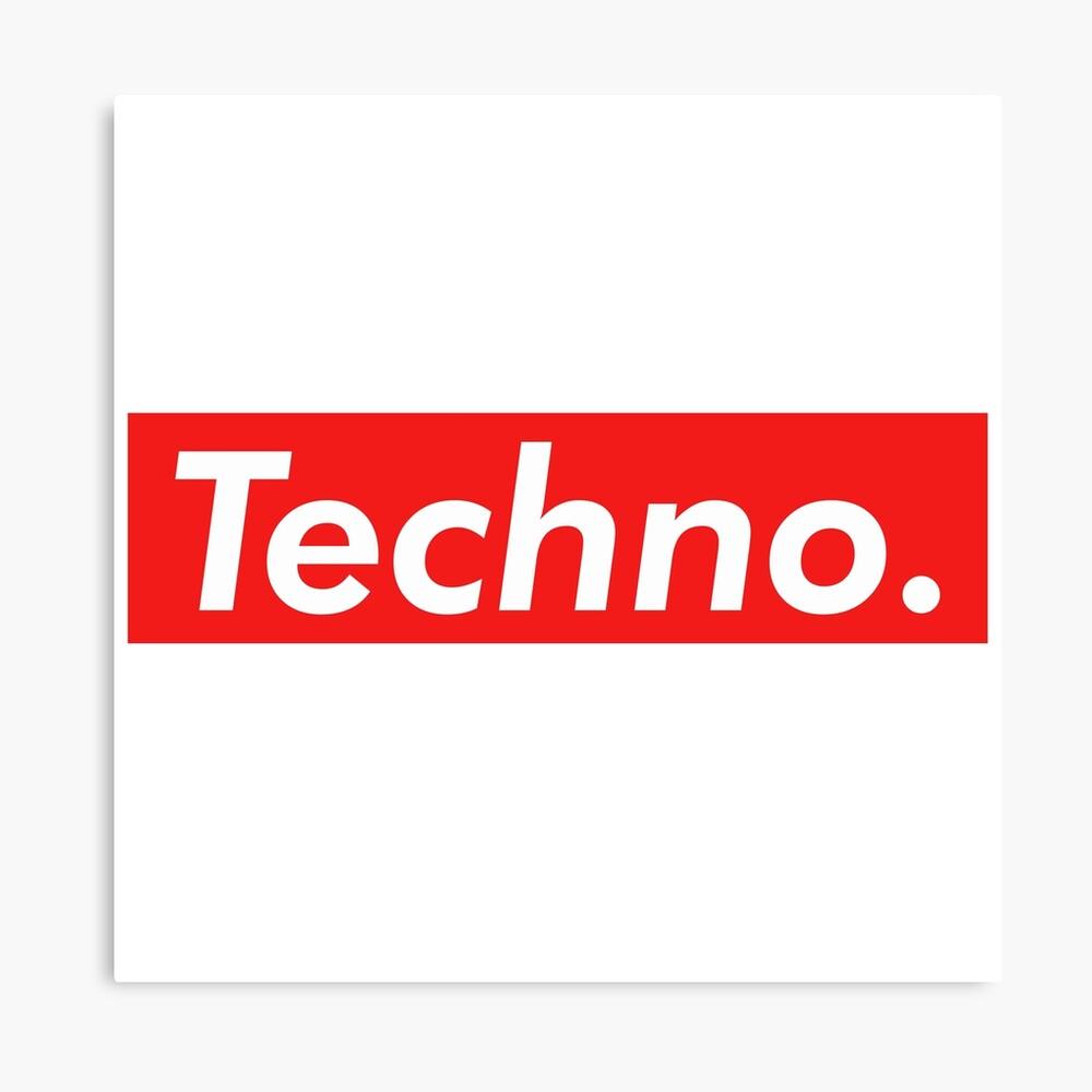 Techno Supreme Parody - Funny Supreme Parody Sticker T-Shirt Pillow Lienzo