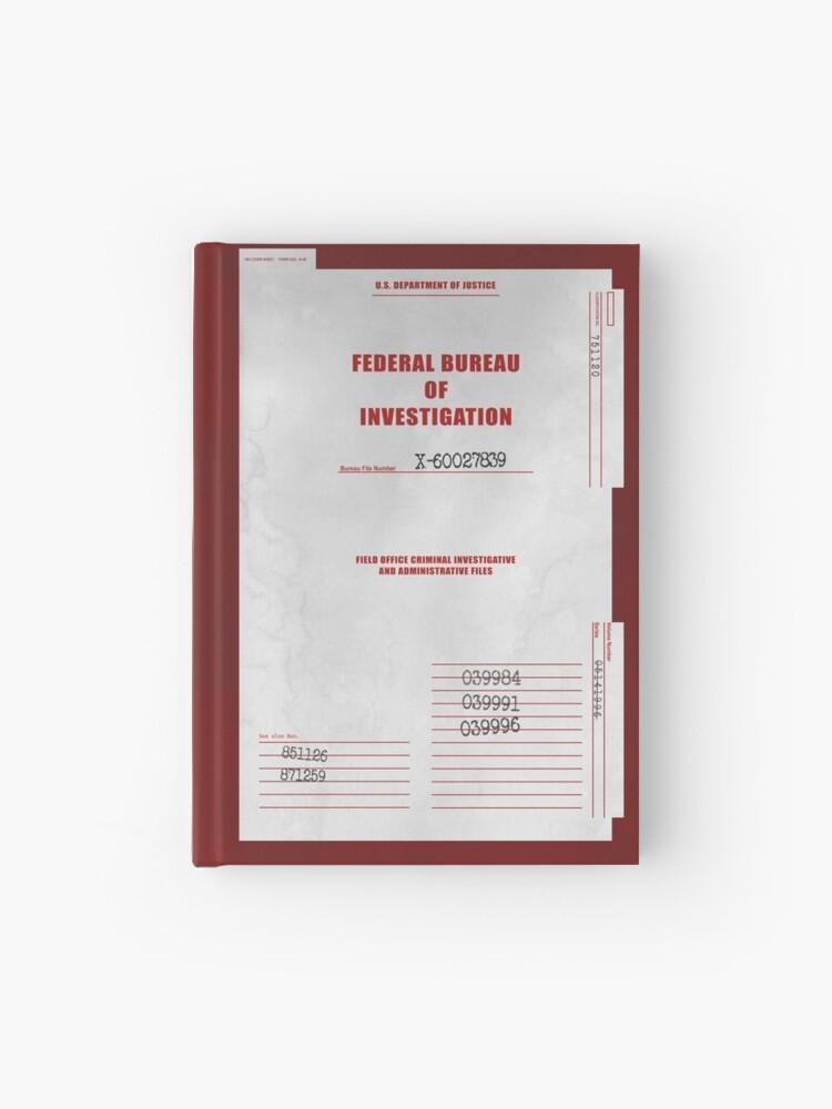 Couverture Du Dossier X Files Carnet Cartonné