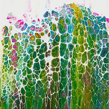 Abstract Pour Painting by QiQiGallery