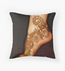 "Henna Tattoo Work ""A"", by bajidoo Throw Pillow"