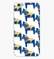 Blaues Dalapferd iPhone-Hülle & Cover