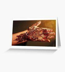 "Henna Tattoo Work ""X"", By Bajidoo Greeting Card"