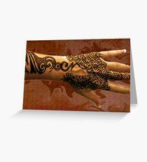 Henna Tattoo Geo, By Bajidoo Greeting Card
