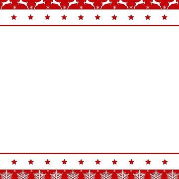 Santa Claus Sleigh Merry Christmas  by Sleazoid