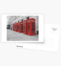Red Telephone Boxes Postcards