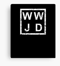 Stylish WWJD Canvas Print