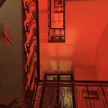 Red staircase by lotusblossom