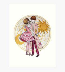 Sakura and Syaoran's dancing Art Print