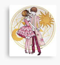 Sakura and Syaoran's dancing Metal Print