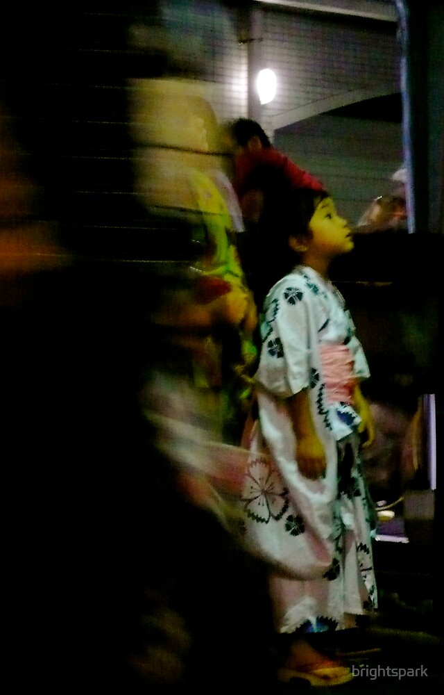 JAPANESE GIRL IN KIMONO by brightspark