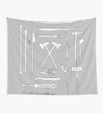 The Weapons of the Company - Black and White Wall Tapestry