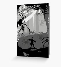The Little Limbbit and the Spiders Greeting Card