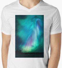 Schöne Nordlichter T-Shirt mit V-Ausschnitt