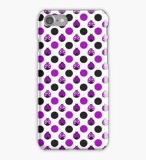 Purple Ladybugs iPhone Case/Skin