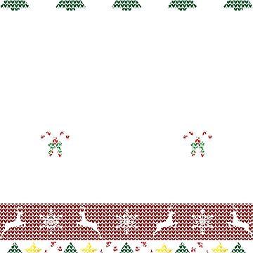 Ugly Christmas Sweater Bee Beekeeper by Sleazoid