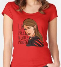 Life needs a little mystery Women's Fitted Scoop T-Shirt