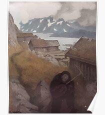 Theodor Kittelsen Mor der kommer en kjerring Poster
