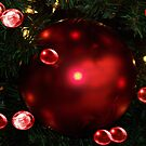 Red Bubble Christmas by Glenna Walker