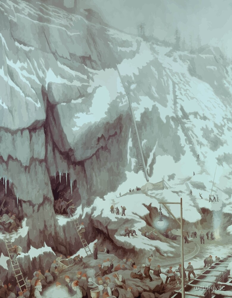 Theodor Kittelsen Grunnarbeide Groundwork 1907 by wetdryvac