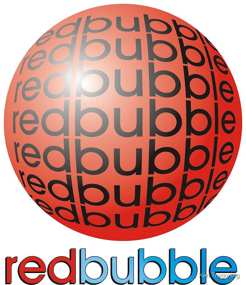 Red redbubble LOGO by Ken Tregoning
