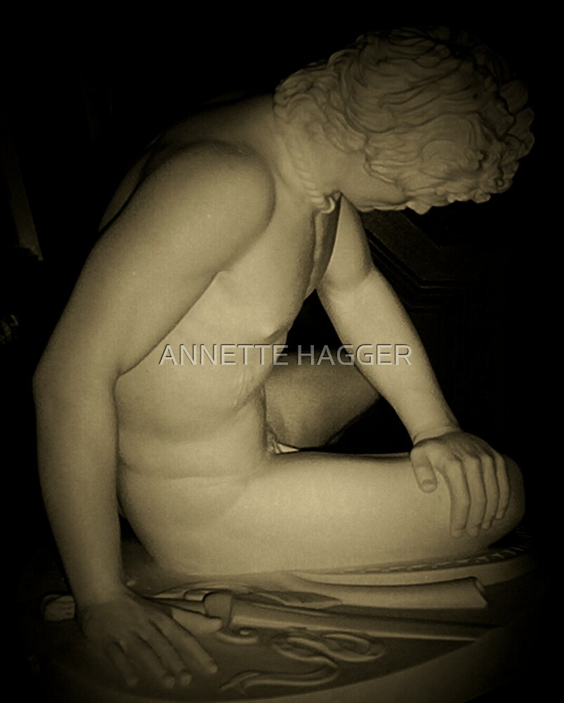 THE FALLEN GLADIATOR - SEPIA by ANNETTE HAGGER