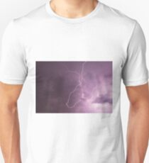 Lightning in storm cloud at night Unisex T-Shirt