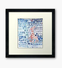 staying there along Framed Print