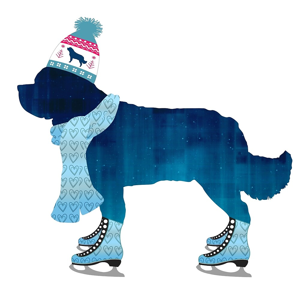 Colorful Newfie Skater by Christine Mullis