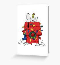 Christmas Snoopy Greeting Card
