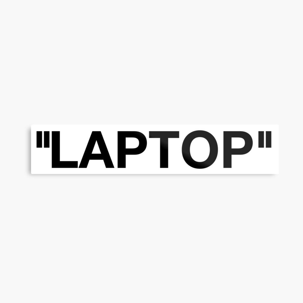 Off White Style Label - Laptop Metallbild