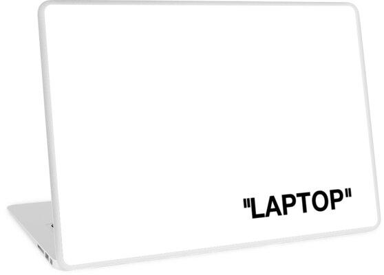 Off White Style Label - Laptop von kingjoshuae