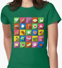 Twenty Five Square Flat Italian Food Icon  T-Shirt