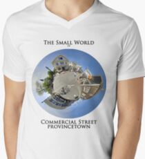 The Small World of Commercial Street, Provincetown Men's V-Neck T-Shirt