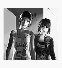 Chloe Price & Max Caulfield - Explosion - Life is Strange Photographic Print