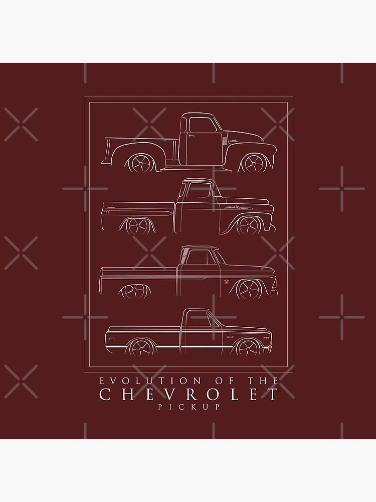 Evolution of the Chevy Pickup  by mal-photography