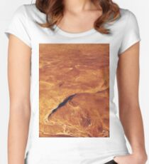 Abstract desert Women's Fitted Scoop T-Shirt