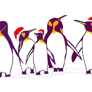 Happy Christmas Penguins by runcatrun