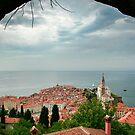 Piran peninsula from City Walls by Bob Ramsak