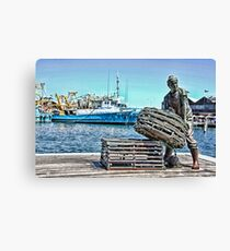 Fishing Boat Harbour Canvas Print